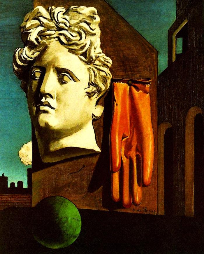 Giorgio De Chirico, Canto d'amore (1914; olio su tela, 73 x 59,1 cm; New York, MoMA)