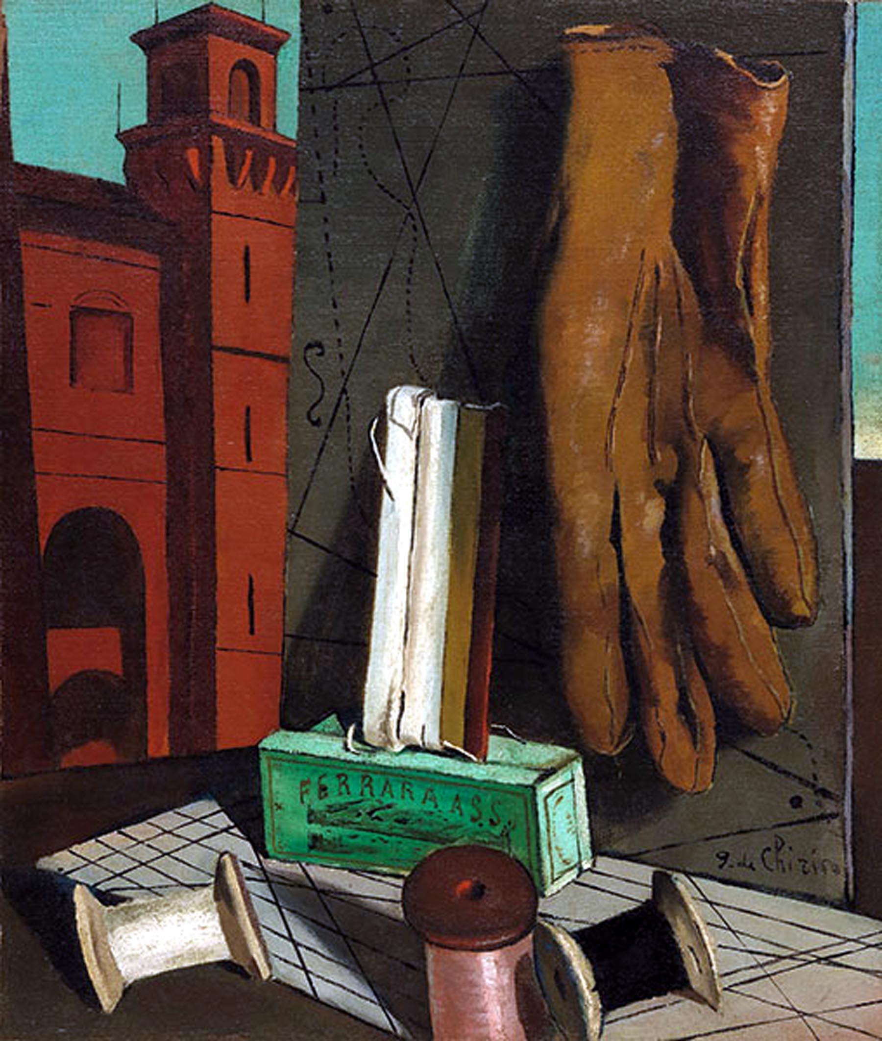 Giorgio De Chirico, I progetti della fanciulla (1915; olio su tela, 47,5 x 40,3 cm; New York, MoMA)
