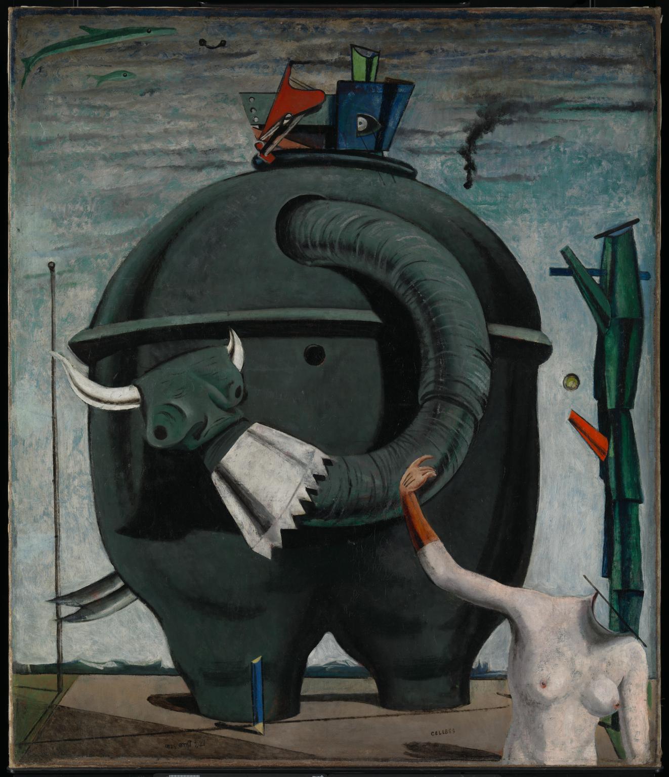 Max Ernst, L'éléphant Célèbes (1921; olio su tela, 125,4 x 107,9 cm; Londra, Tate Modern)