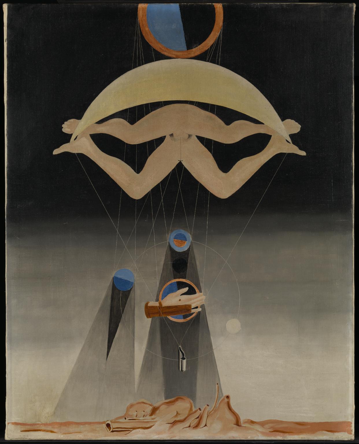 Max Ernst, Les hommes n'en sauront rien (1923; olio su tela, 80,3 x 63,8 cm; Londra, Tate Modern)