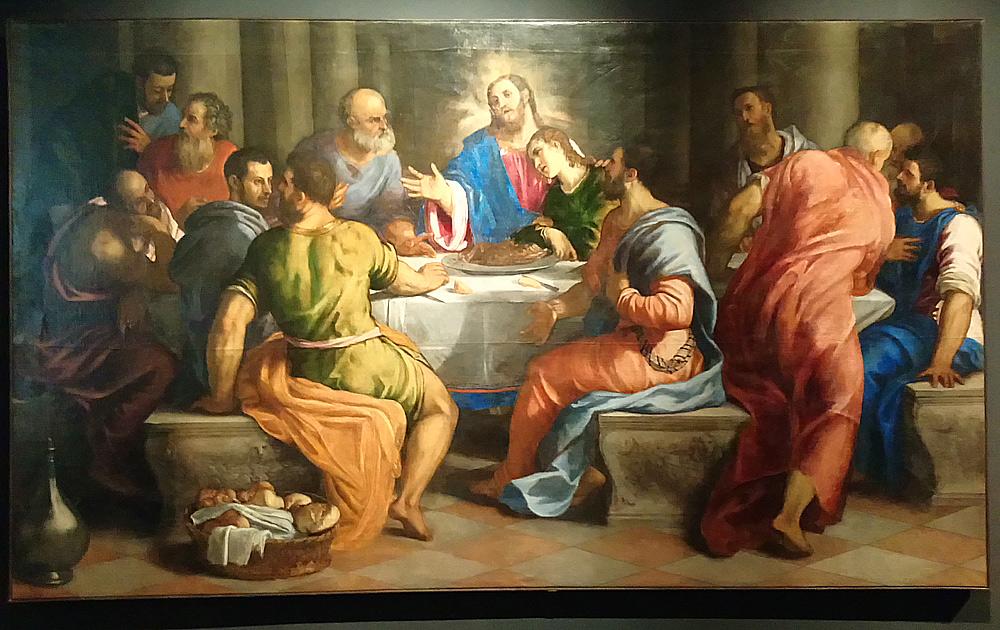 Giuseppe Porta Salviati, Ultima cena (1545-1547; olio su tela, 230 x 395 cm; Venezia, Santa Maria della Salute)