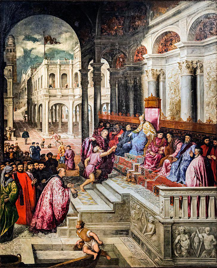 Paris Bordon, Consegna dell'anello al doge (1533-1535; olio su tela, 370 x 300 cm; Venezia, Gallerie dell'Accademia)
