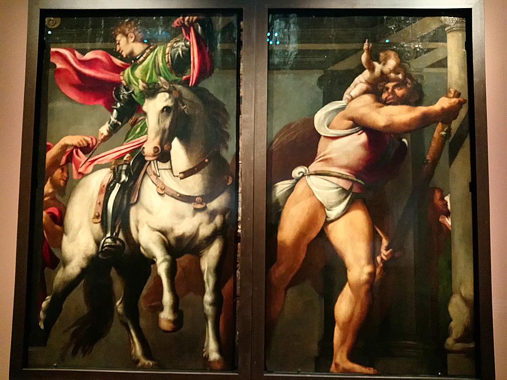 Giovanni Antonio de' Sacchis detto il Pordenone, San Martino e san Cristoforo (1527-1528 circa; olio su tavola, 247,4 x 147,4 cm; Venezia, Scuola Grande di San Rocco)