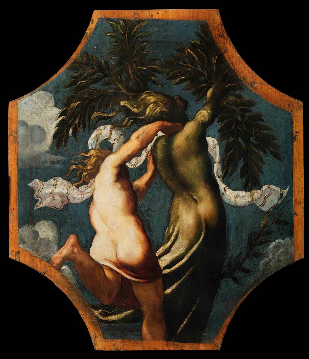 Tintoretto, Apollo e Dafne (1542 circa; olio su tavola, 153 x 133 cm; Modena, Gallerie Estensi)