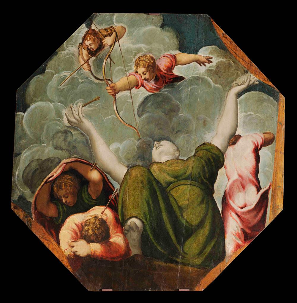 Tintoretto, Strage dei figli di Niobe (1542 circa; olio su tavola, 127 x 124 cm; Modena, Gallerie Estensi)