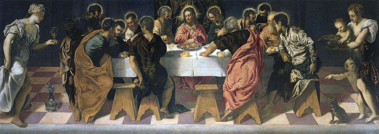 Tintoretto, Ultima cena (1547; olio su tela, 157 x 433 cm; Venezia, San Marcuola)