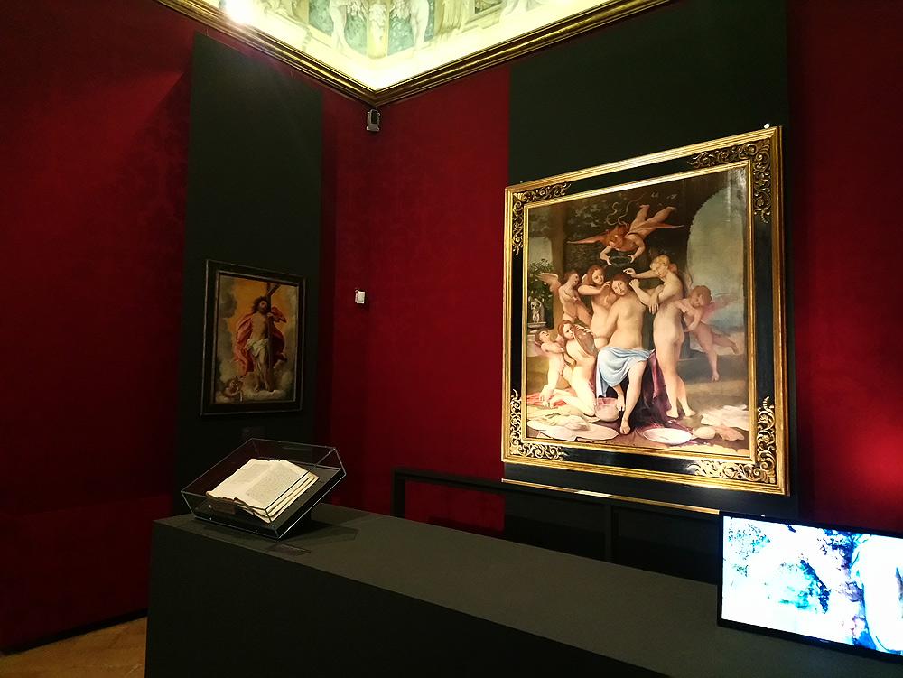 Interazione tra dipinti, documenti e supporti multimediali