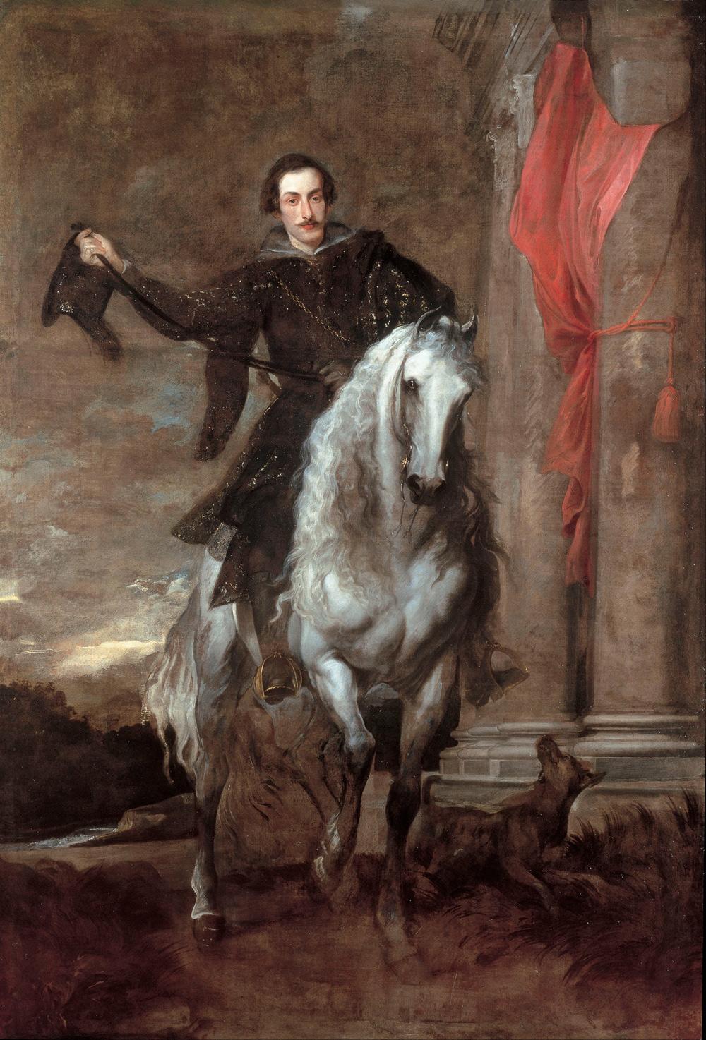 Anton van Dyck, Ritratto equestre di Anton Giulio Brignole-Sale (1627; olio su tela, 282 x 198 cm; Genova, Musei di Strada Nuova, Palazzo Rosso)