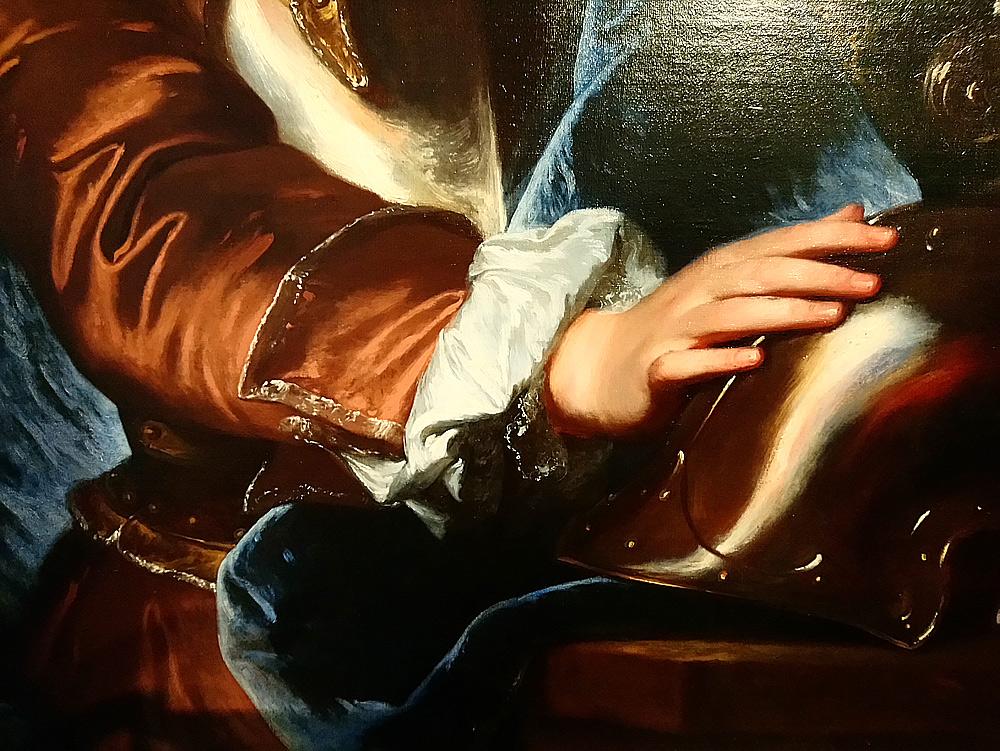 Hyacinthe Rigaud, Ritratto di Anton Giulio Brignole-Sale, dettaglio