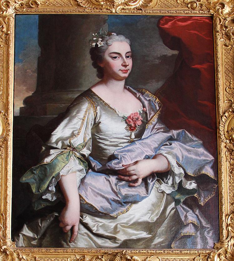 Hyacinthe Rigaud, Ritratto di Battina Raggi (1739; olio su tela, 101 x 80 cm; Genova, Musei di Strada Nuova, Palazzo Rosso)