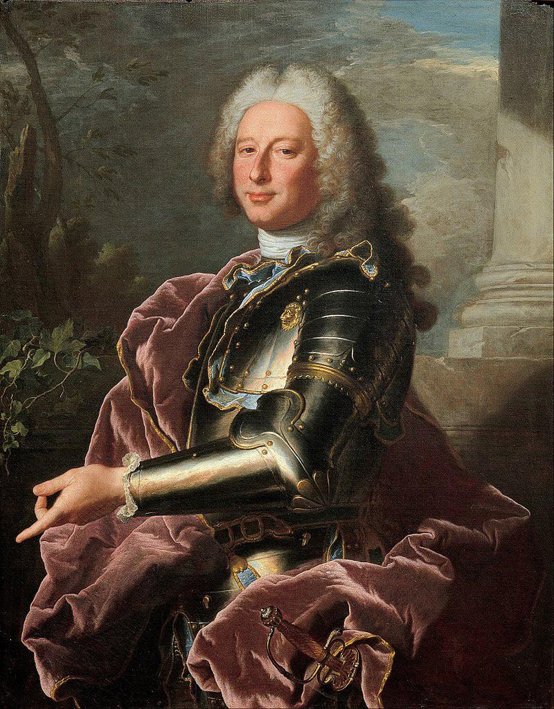 Hyacinthe Rigaud, Ritratto di Giovanni Francesco II Brignole-Sale (1739; olio su tela, 101,5 x 80,2 cm; Genova, Musei di Strada Nuova, Palazzo Rosso)