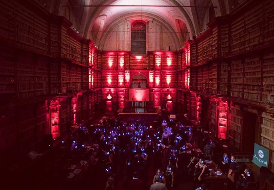 Il silent party della Biblioteca Angelica di Roma