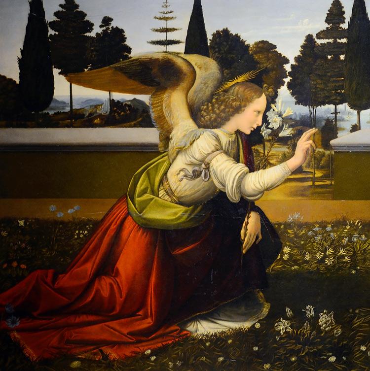 L'angelo dell'Annunciazione di Leonardo da Vinci