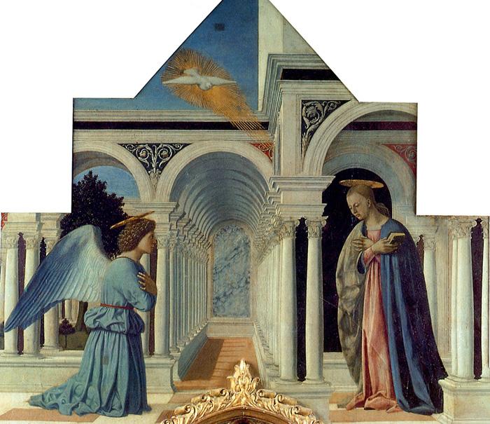 Piero della Francesca, Polittico di sant'Antonio, l'Annunciazione