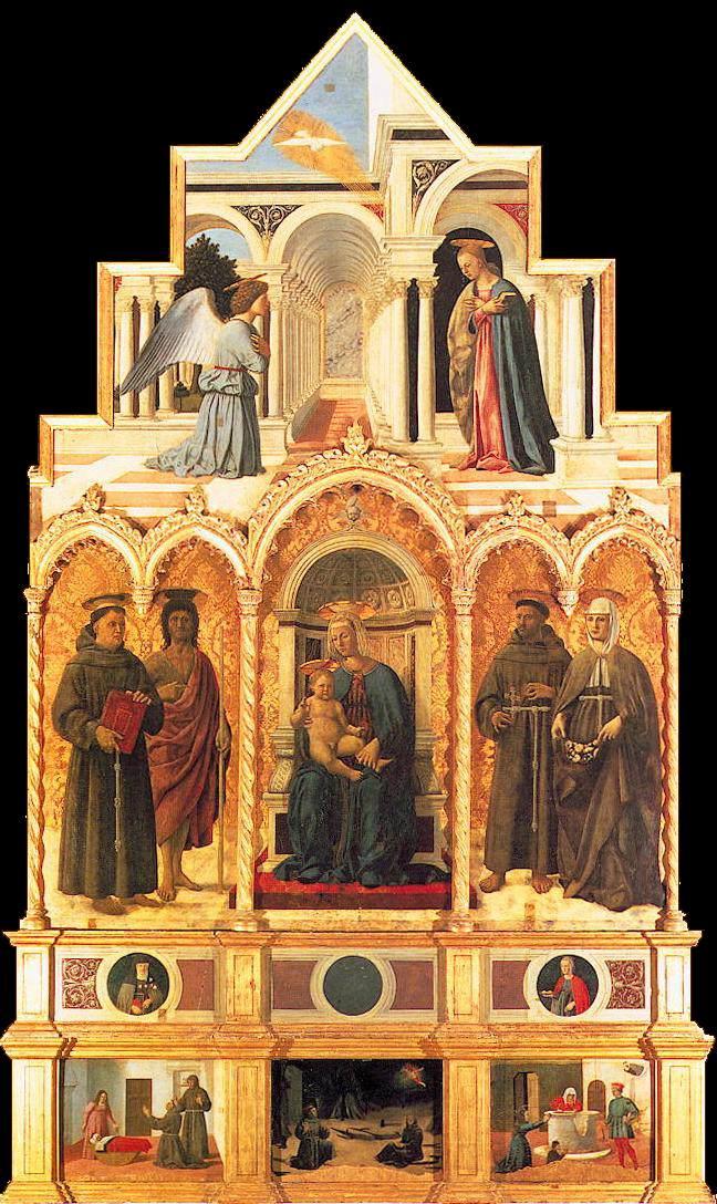 Piero della Francesca, Polittico di sant'Antonio (1460-1470 circa; tecnica mista su tavola, 338 x 238 cm; Perugia, Galleria Nazionale dell'Umbria)