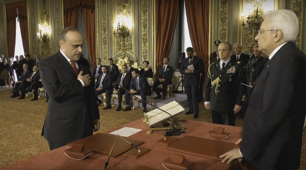 Alberto Bonisoli giura da ministro