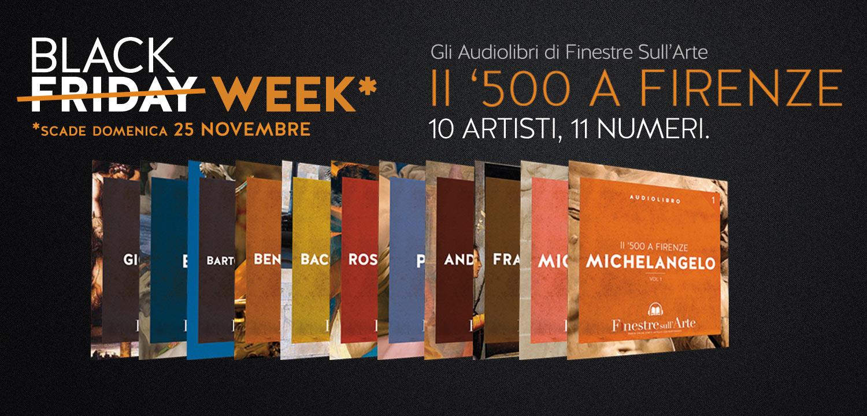 Offerta speciale Black Week sugli audiolibri di Finestre sull'Arte