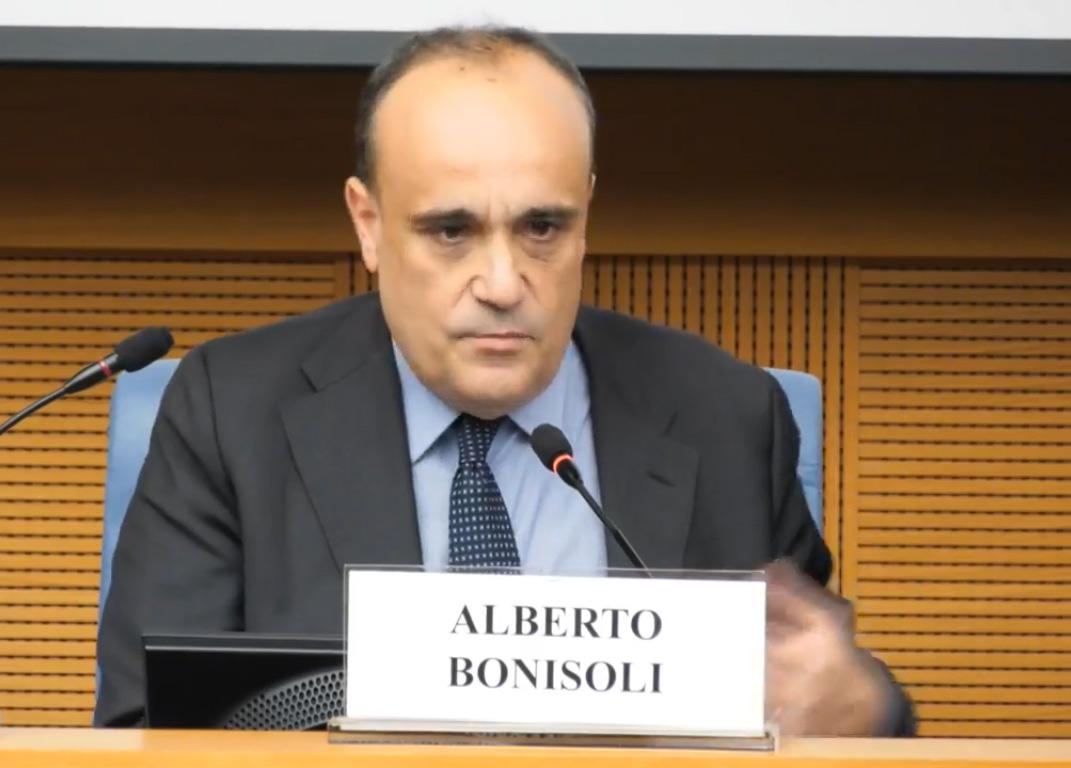 Alberto Bonisoli durante il suo intervento alla Camera