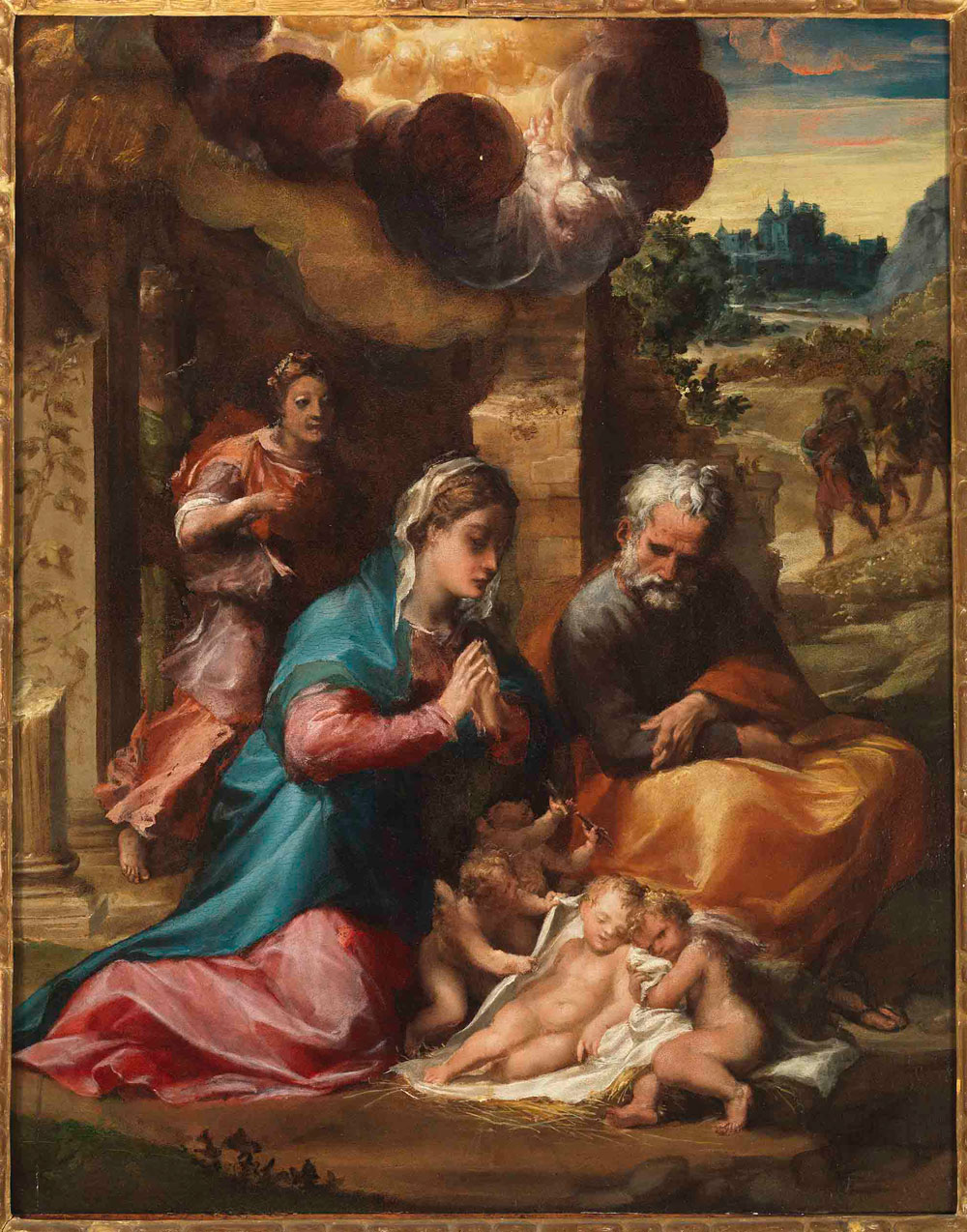 L'Adorazione del Bambino restaurata di Michelangelo Anselmi in mostra a Milano