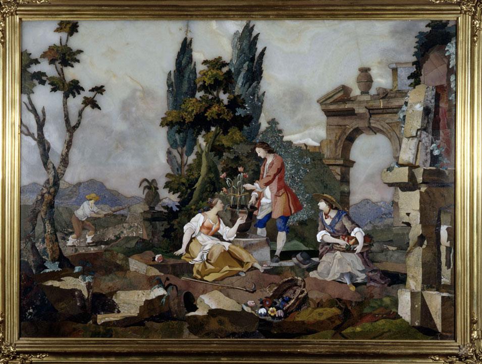 Pietre colorate molto vaghe e belle: a Mantova opere d'arte realizzate con la tecnica del commesso