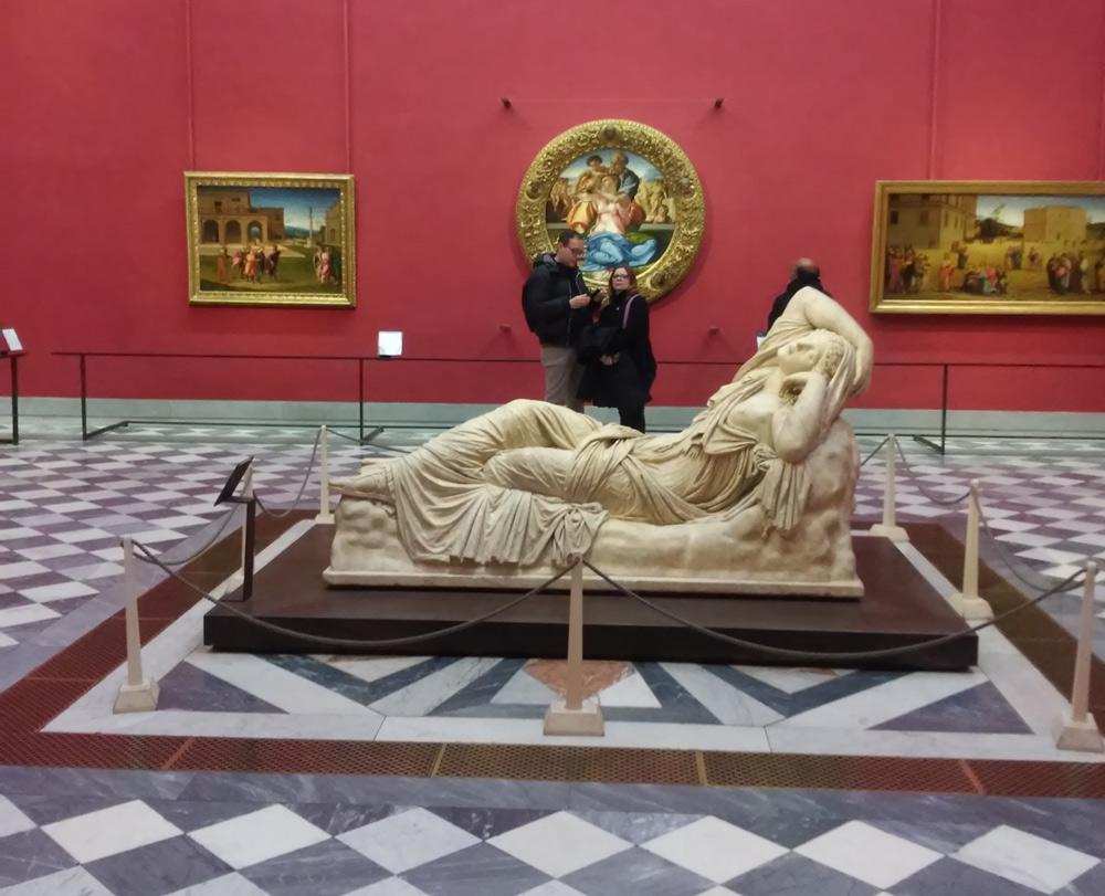 L'allestimento della sala di Michelangelo nella versione di Antonio Natali del 2012. Ph. Credit Finestre sull'Arte
