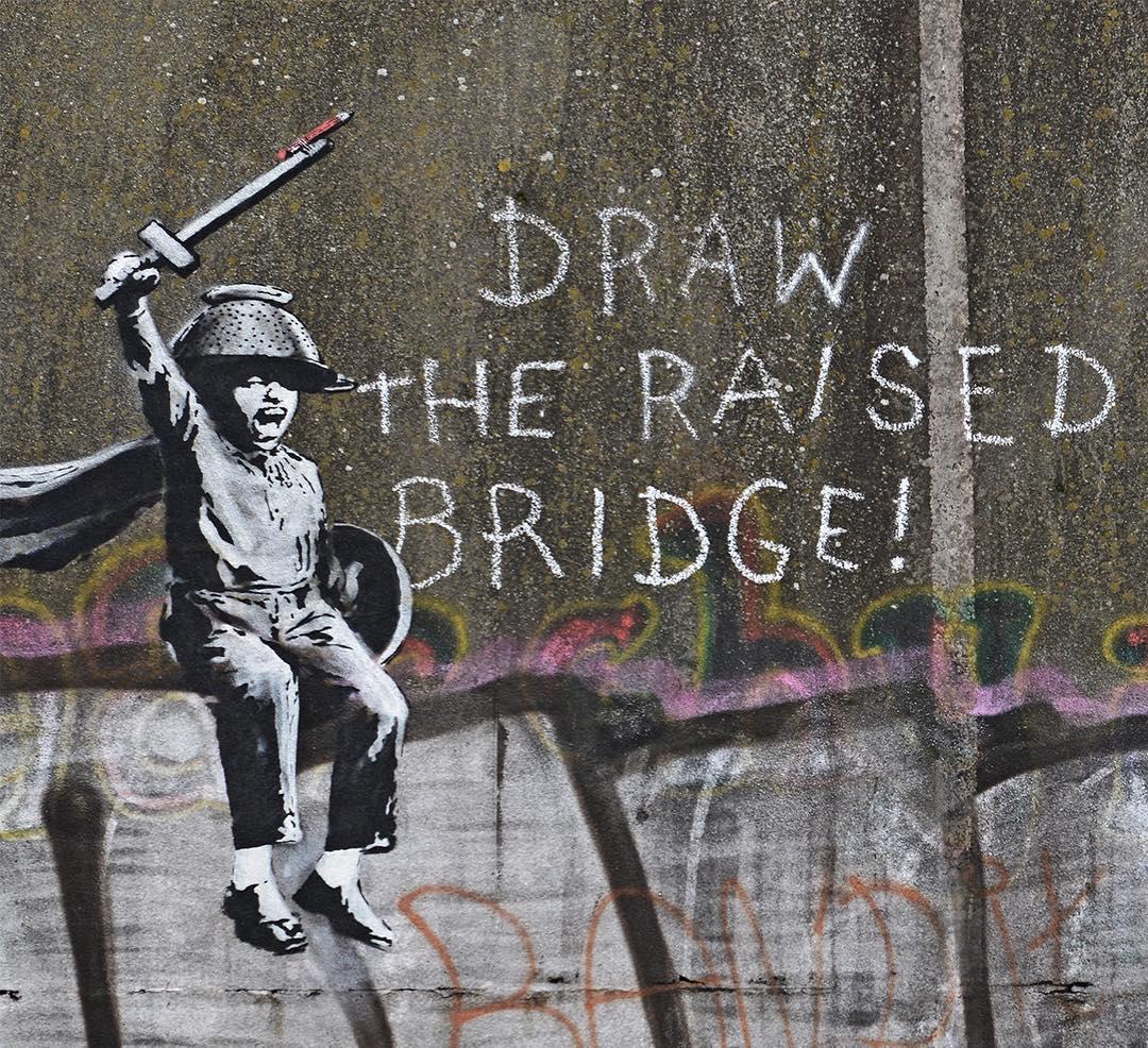 In Inghilterra compare un nuovo murale di Banksy