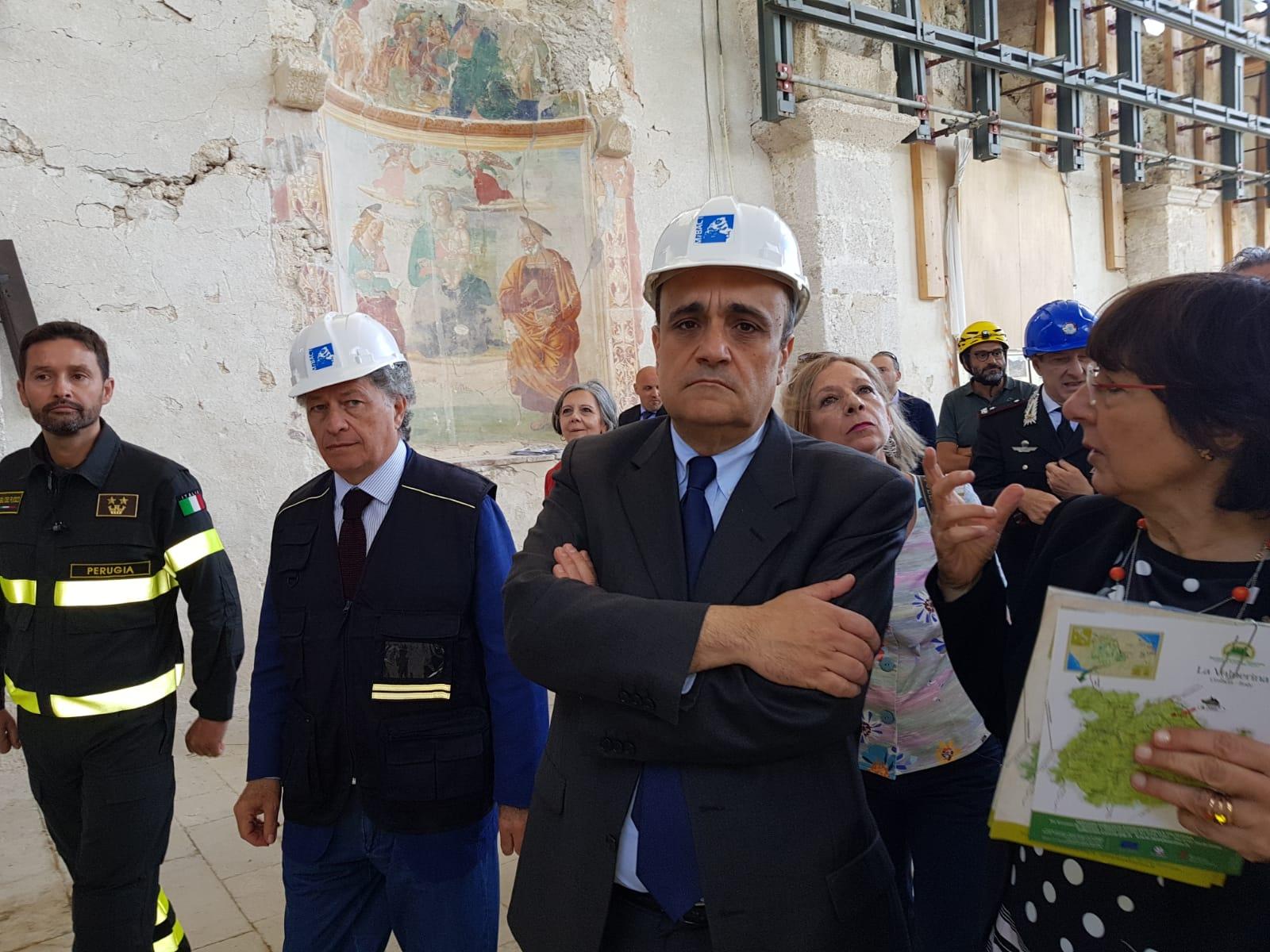 Bonisoli: beni culturali, dal 24 agosto termina l'emergenza sisma. Nel frattempo salvate migliaia di opere