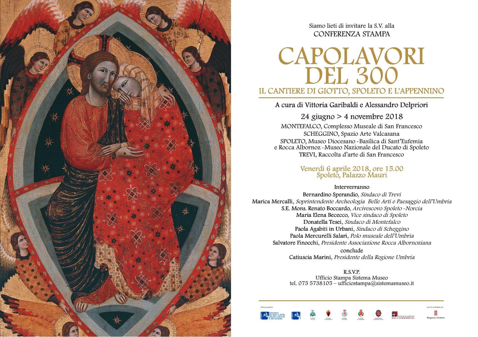 Una grande mostra sul Trecento in Umbria, in quattro comuni della regione