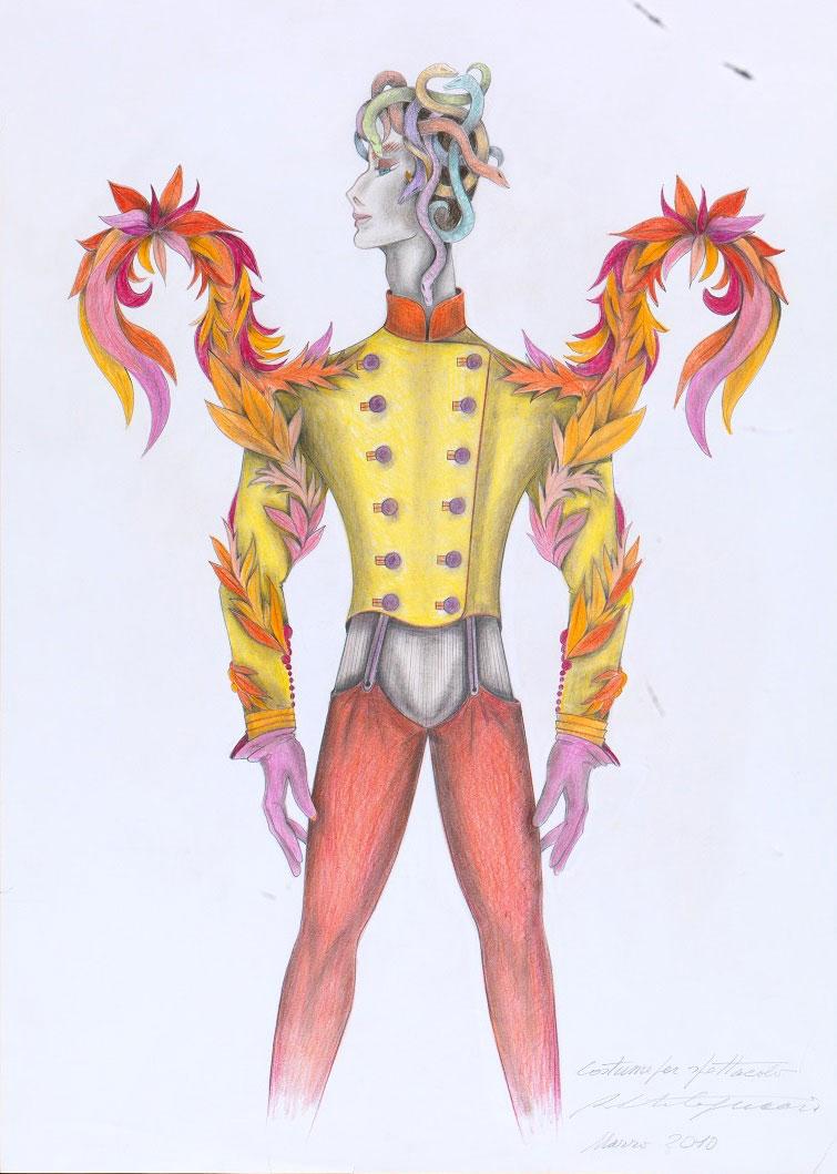 Capucci Dionisiaco: una mostra a Palazzo Pitti con costumi maschili per il teatro