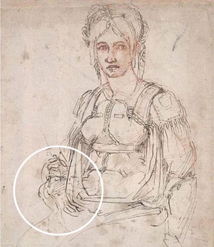 Un piccolo autoritratto di Michelangelo nascosto in un suo disegno?