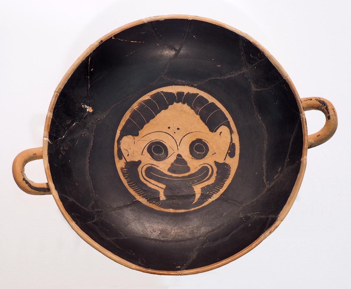 Kylix attica a figure nere, ceramica, epoca preromana