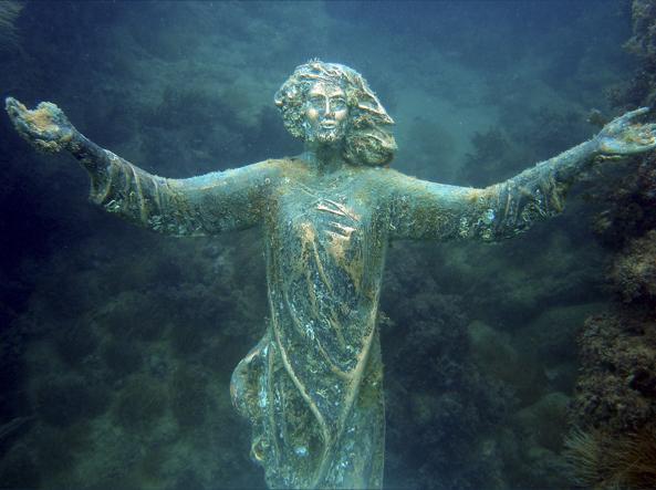 Ritrovato il Cristo degli Abissi di Vallevò (Chieti): era scomparso da un mese