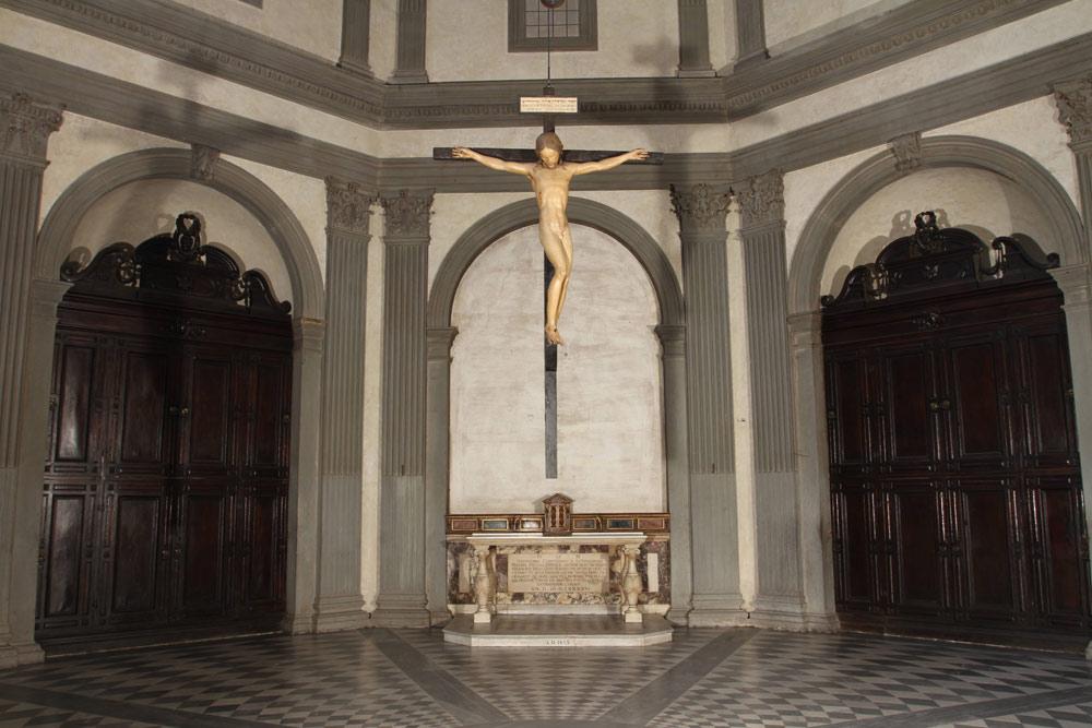 Una nuova illuminazione per il Crocifisso di Santo Spirito di Michelangelo