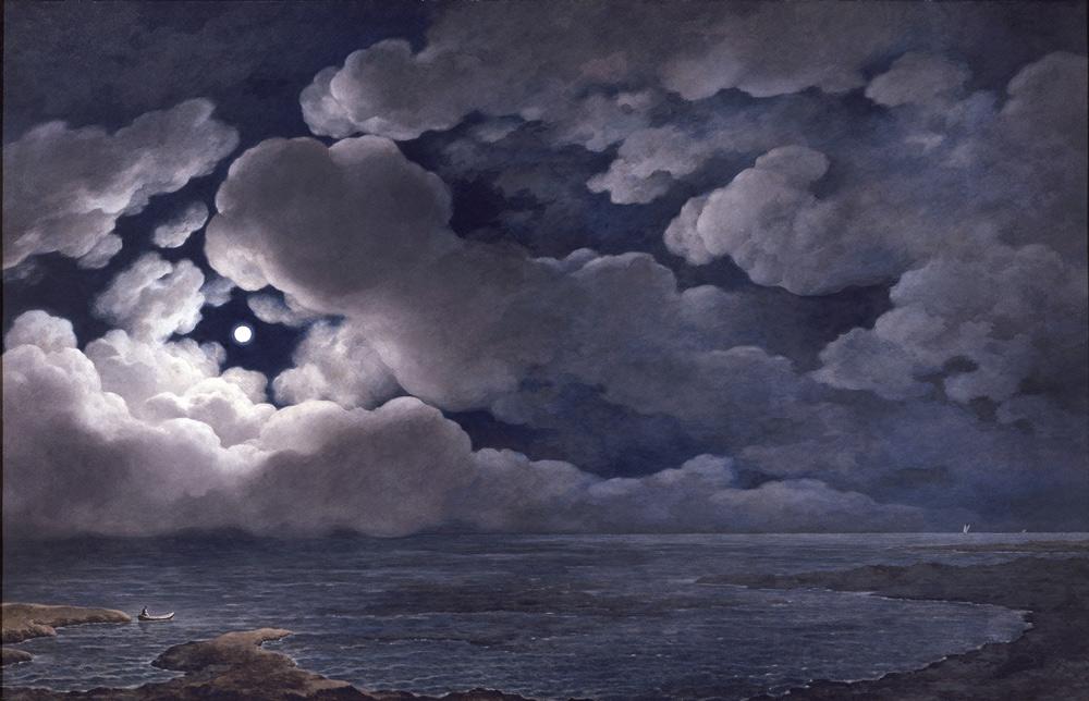Giuseppe Pietro Bagetti, Notturno con effetto di luna (1820-1830; Torino, Musei Reali – Palazzo Reale)