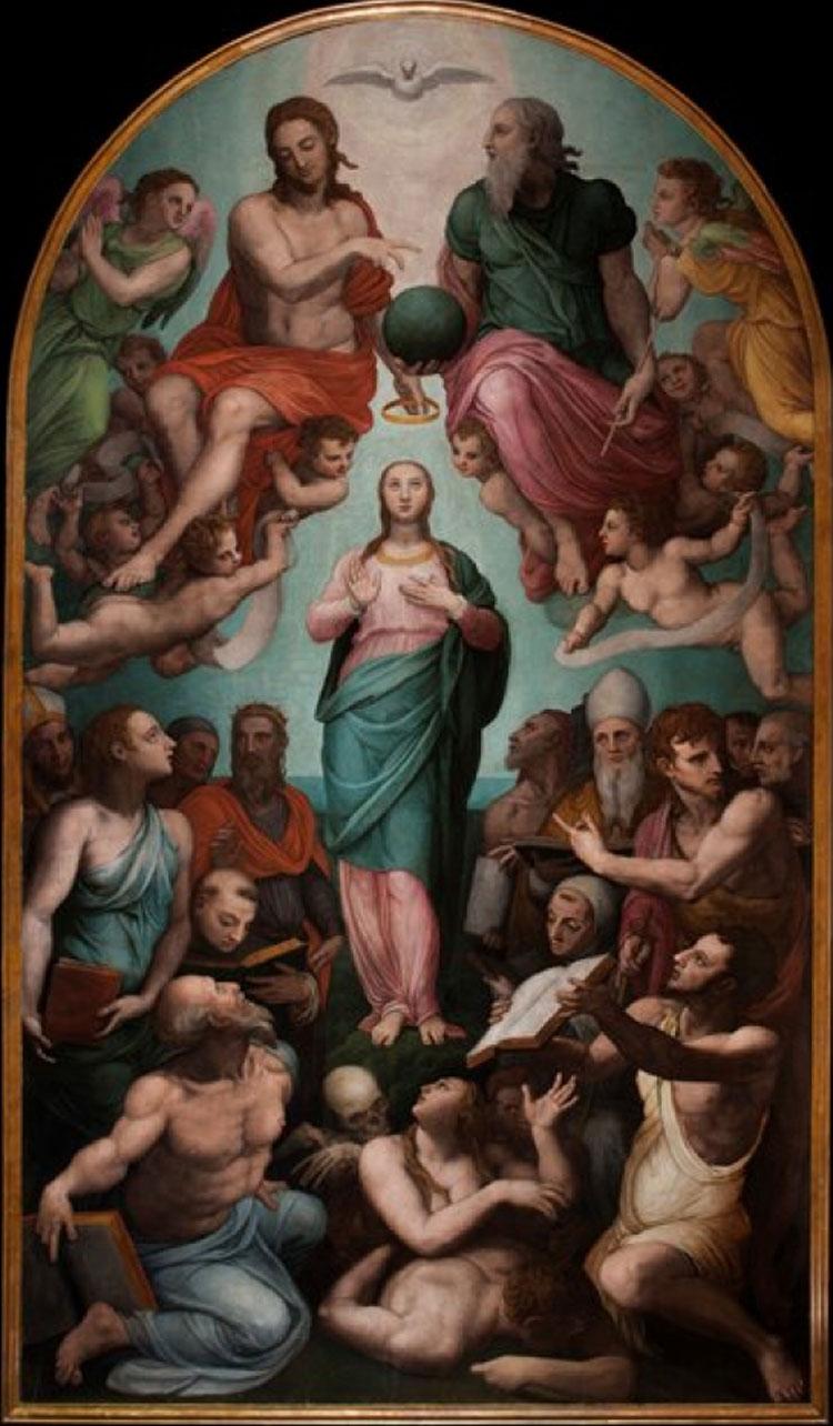 Firenze: l'Immacolata Concezione del Bronzino ricollocata nella sua sede