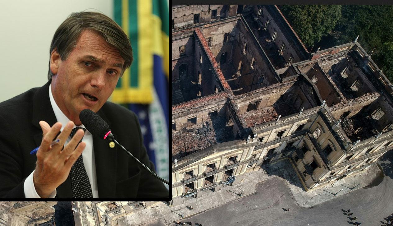 """Museo Nazionale di Rio, quando Jair Bolsonaro diceva: """"ormai ha preso fuoco, io cosa ci dovrei fare?"""""""