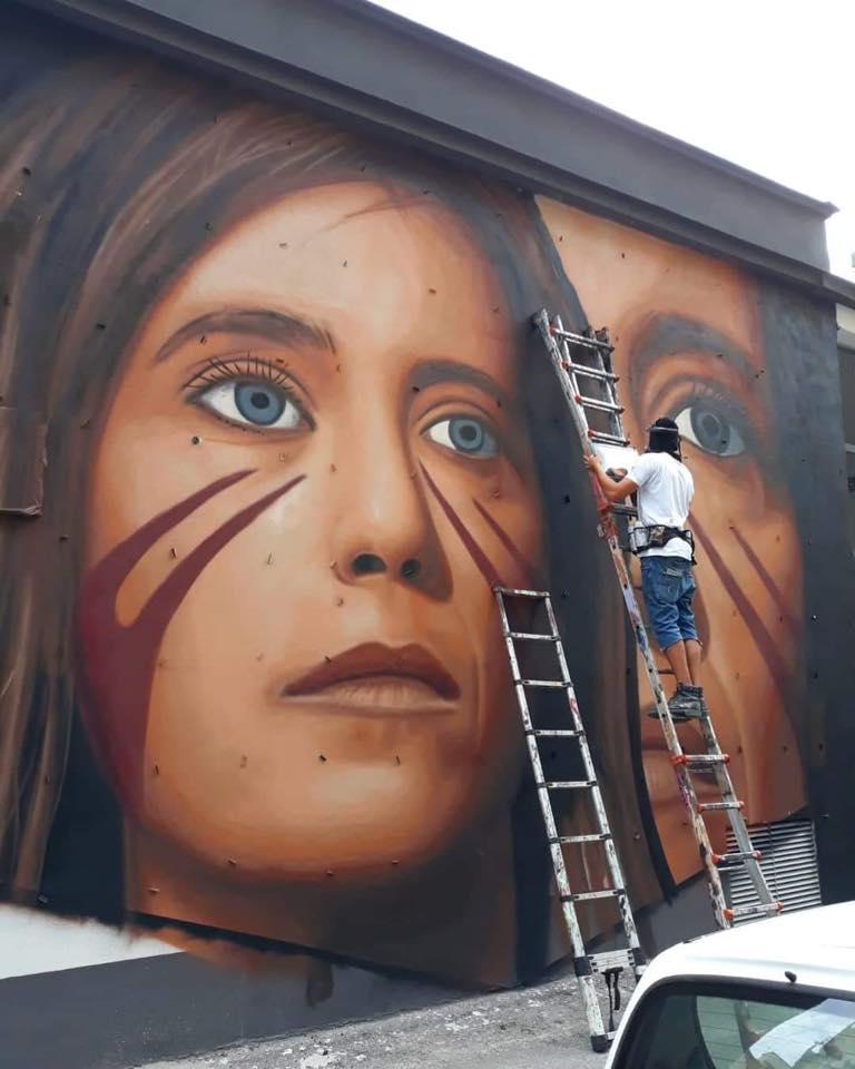 Napoli, Jorit dedica un murale a Ilaria Cucchi