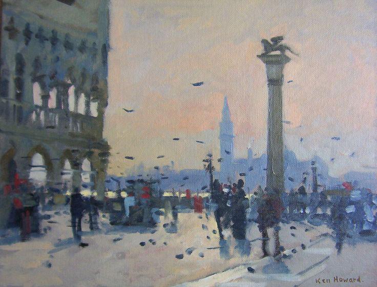 Venezia, i vigili cacciano pittore da piazza San Marco. Ma era Ken Howard, artista di fama internazionale