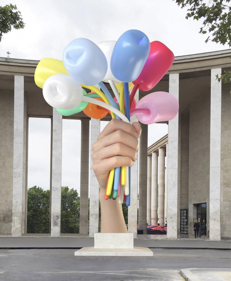 Koons arriva a Parigi, ma la realizzazione della sua opera è ancora in forse