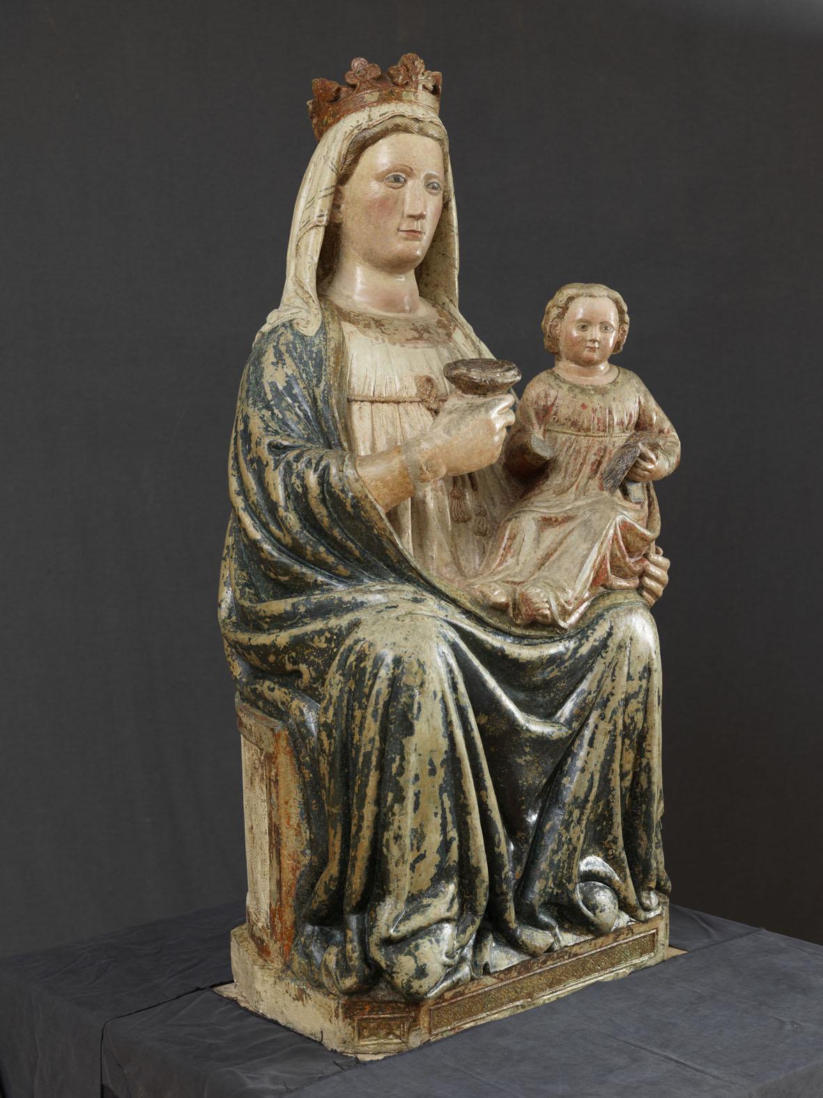 A Trento è in mostra la Madonna in Blu, una scultura veronese del Trecento