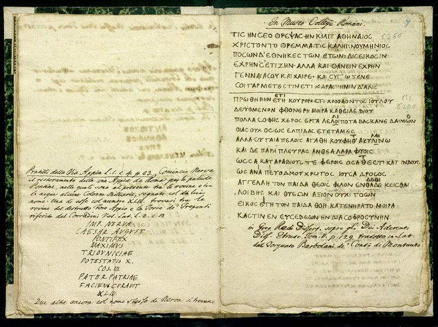 Esposto a Roma oggi per la prima volta al pubblico manoscritto autografo di Winckelmann