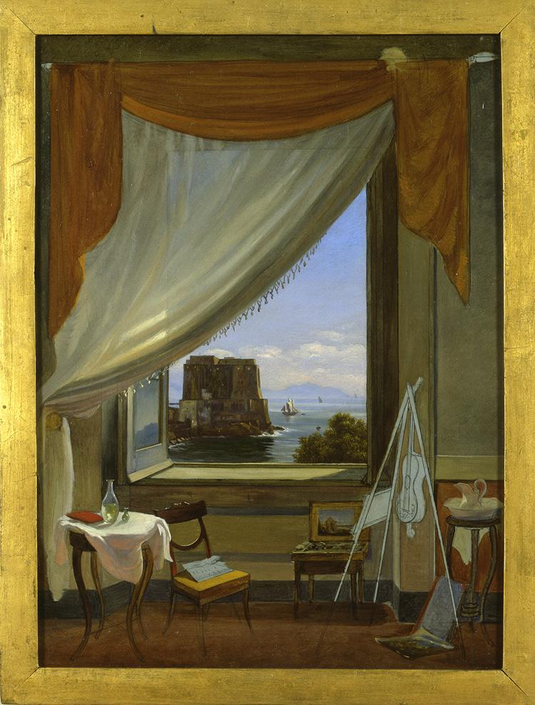 Massimo D'Azeglio, Lo studio del pittore a Napoli (1827 circa; Torino, GAM – Galleria Civica d'Arte Moderna e Contemporanea)