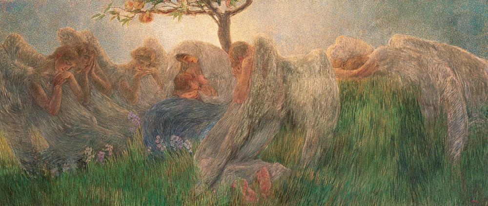 L'amore materno celebrato in una rassegna a Verona con opere di Previati, Segantini, Morbelli, Boccioni