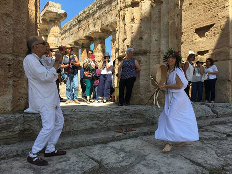 Musico-archeologia nel Parco Archeologico di Paestum