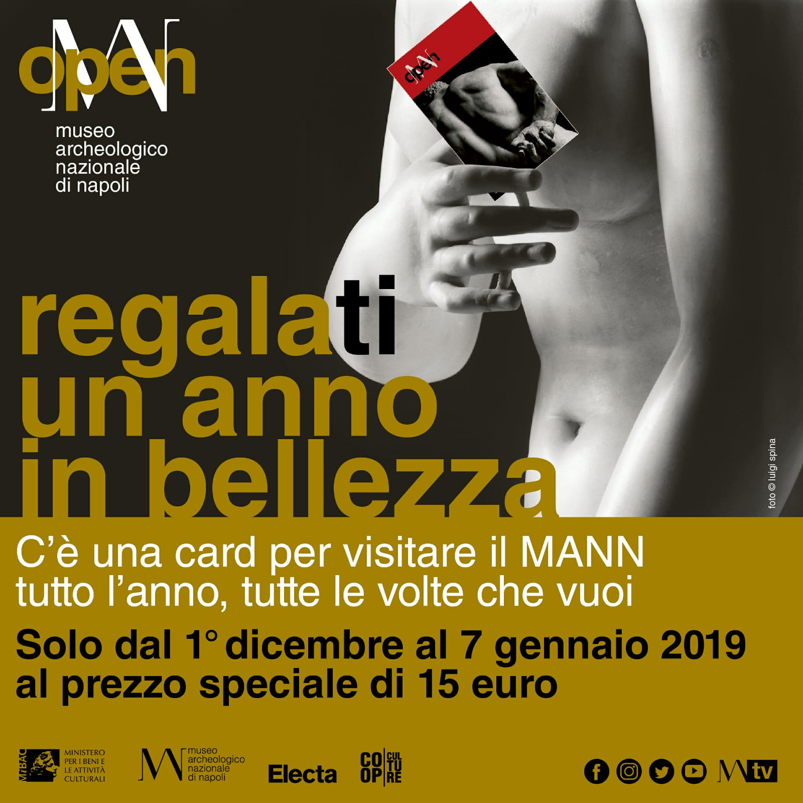 Open MANN: arriva la card per visitare il il Museo Archeologico Nazionale di Napoli tutto l'anno