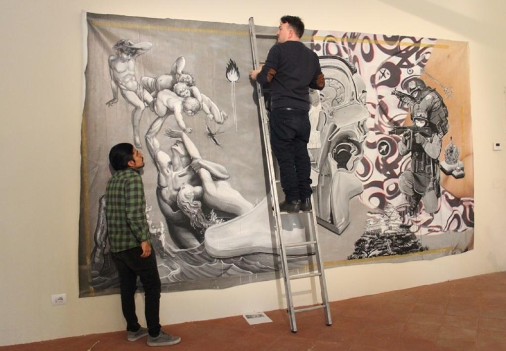 Dal muro alla tela. La street art di Ozmo in mostra a Pisa