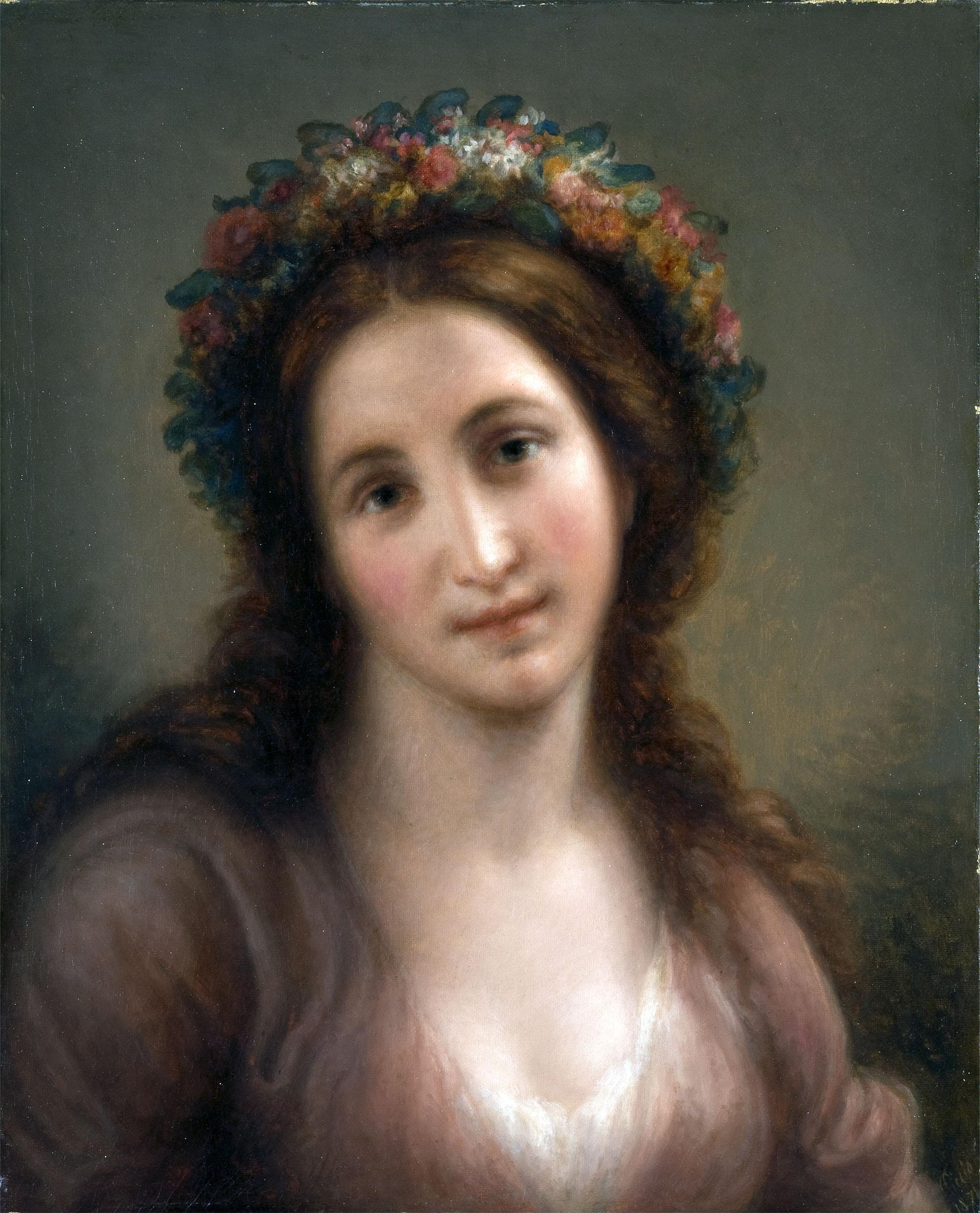 Giovanni Carnovali detto il Piccio, Flora (1871; olio su tela, 54 x 44 cm; Collezione privata)