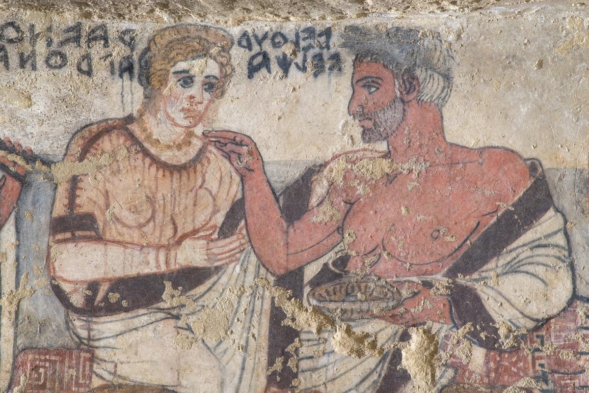 A Tarquinia restaurata la Tomba degli Scudi, capolavoro dell'arte etrusca