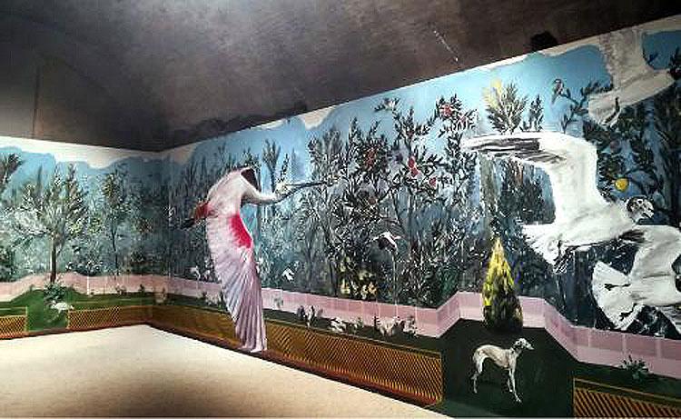 L'artista spagnolo Santiago Ydáñez rielabora in un'installazione l'affresco di Villa di Livia