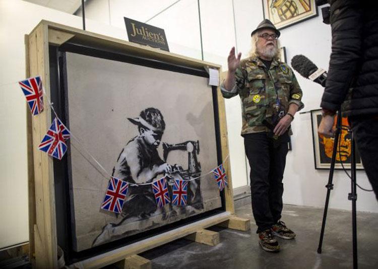 Ron English acquista un Banksy e progetta d'imbiancarlo completamente per protesta